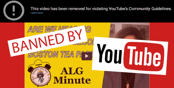 BANNED: YouTube Censors Talk of Boston Tea Party