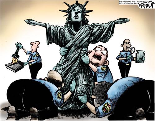 TSA Pat Down Cartoon