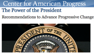 Center for American Progress Uses Presidential Seal Ilegally?