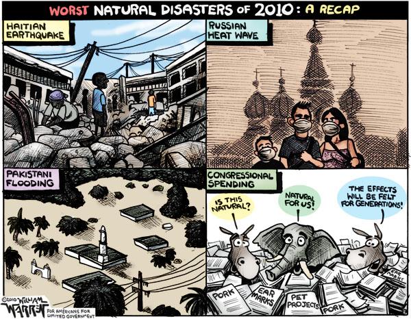 2010 Disaster Recap Cartoon