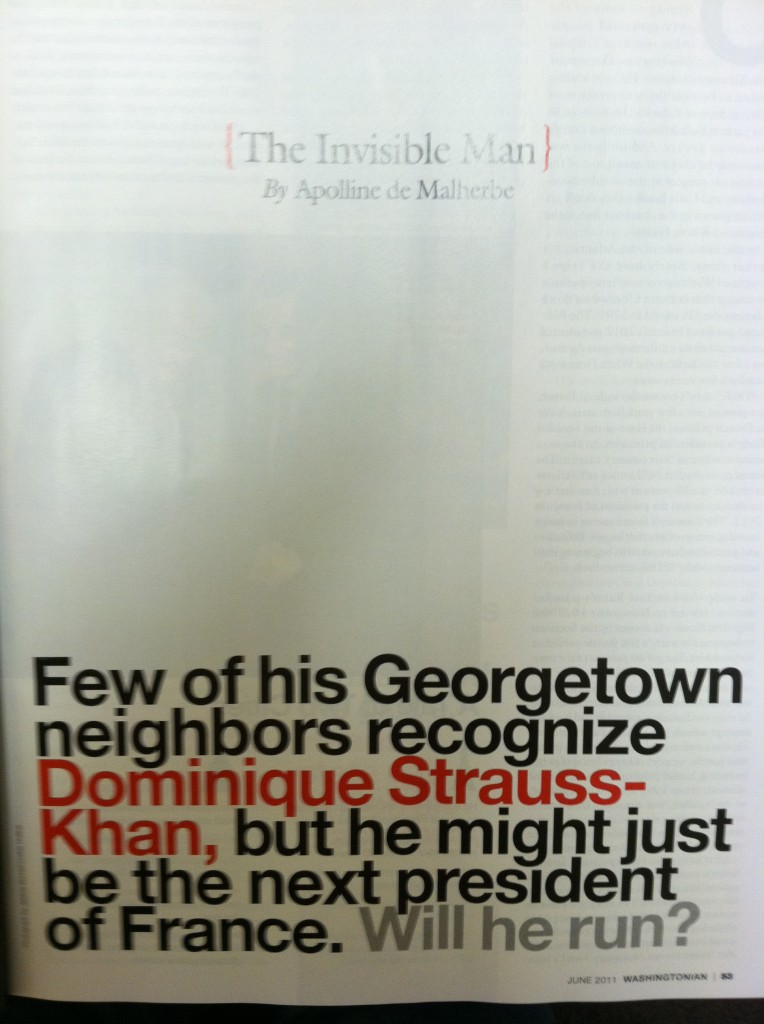 DSK is the Invisible Man in the Washingtonian