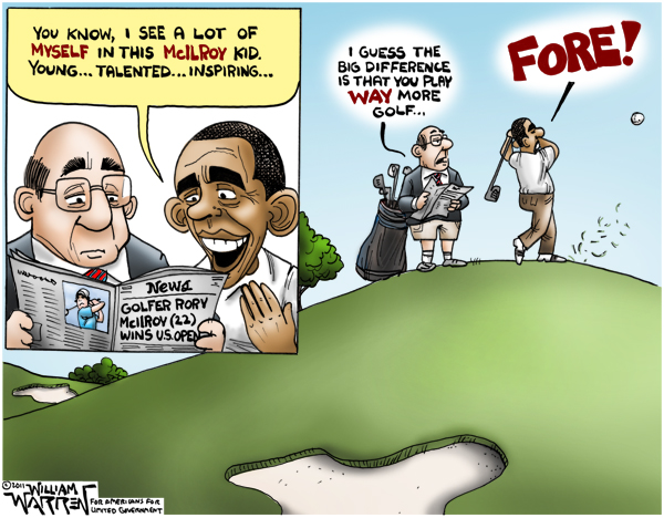 Obama Plays More Golf