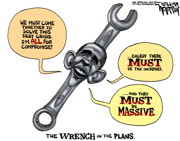 Obama is the Wrench in the Plans