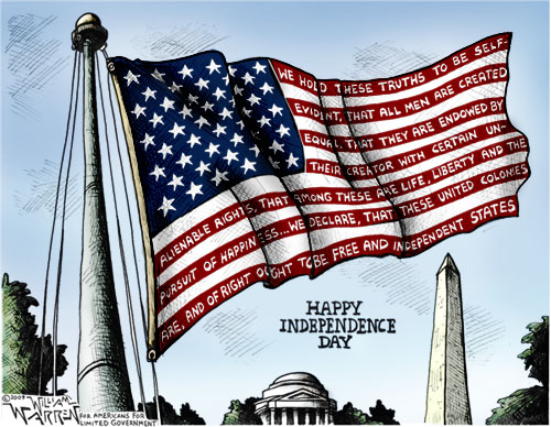 4th of July William Warren Cartoon