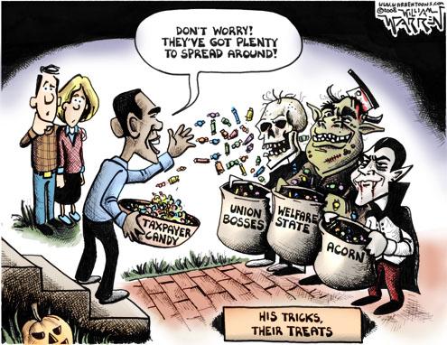 Obama's trick or treat