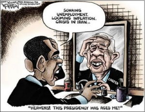 Obama and Jimmy Carter Cartoon