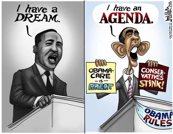 Cartoon - I have an Agenda - 600