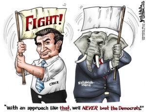 Cartoon - Cruz Vs Establishment - 600