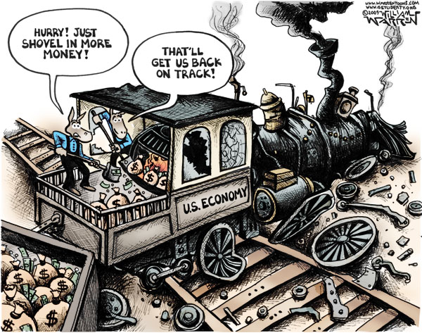Train Wreck Cartoon-Warren