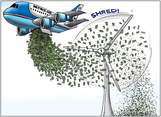 windmill shredding money
