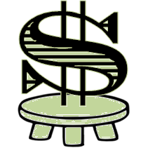 dollar sign on small pedestal