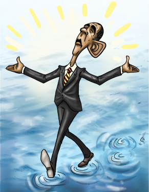 obamawalkingonwater